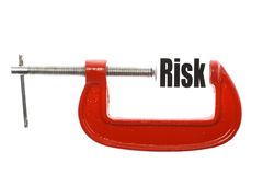 Compressing risk Royalty Free Stock Image