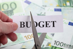 Compression budgétaire Image libre de droits