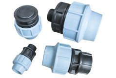 Compression couplings and fittings Stock Photography