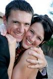 Compression de couples Photo libre de droits