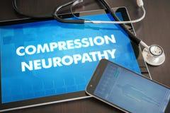 Compression neuropathy (neurological disorder) diagnosis medical Royalty Free Stock Photo