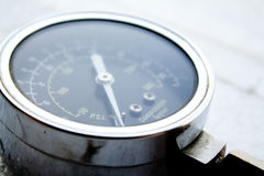 Compression tester. Closeup with bokeh Royalty Free Stock Photo