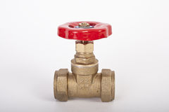 Compression valve. For plumbing, home central heating stock image