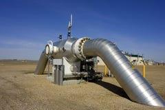 Compressione 4 del gas Immagine Stock