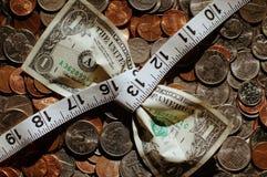 Compressione del dollaro Fotografia Stock Libera da Diritti