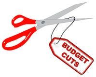 Compressions budgétaires illustration stock