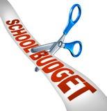 Compressions budgétaires de budget de l'école Photo stock