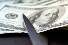 Compressions budgétaires/inflation Images libres de droits