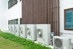 Compressor of air condition Stock Photos