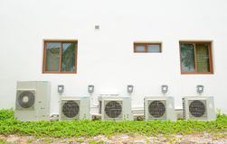 Compressor of air condition Royalty Free Stock Photography