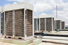 Compressor of air conditioner. Compressor of air conditioner install on the roof top Royalty Free Stock Images