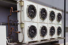 Compressor of air conditioner Stock Photography