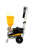 Compressor airbrush industrial mobile for painting on a trolley isolated on a white background Royalty Free Stock Photos