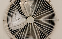 Compressor aircondition. Close up compressor aircondition with four fans Stock Images