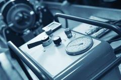 Compressor bij werkruimte royalty-vrije stock foto's