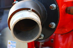 Compressor connection valve Stock Image
