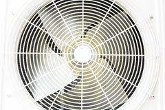 Compressor de ar do metal branco isolado no fundo branco Fotos de Stock