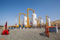 Compressor do refinator do petróleo e gás Imagens de Stock Royalty Free