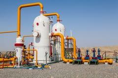 Compressor do refinator do petróleo e gás Fotos de Stock Royalty Free