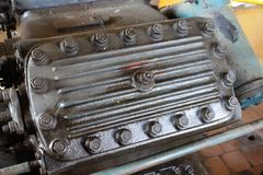 Compressor engine nuts Stock Photos