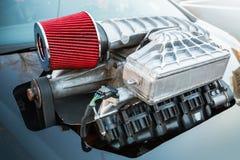 Compressor, luchtcompressor, straatraceauto stock foto's