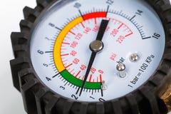 A compressor pressure gauge royalty free stock photo