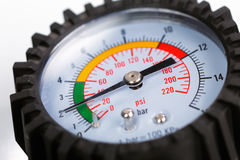 A compressor pressure gauge Royalty Free Stock Photo
