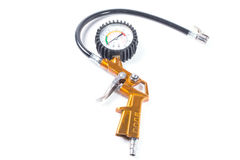 Compressor pressure gauge Royalty Free Stock Image