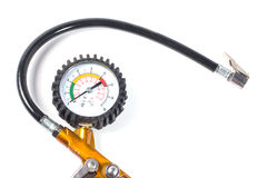 Compressor pressure gauge Stock Photo