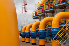 The compressor station Stock Photography