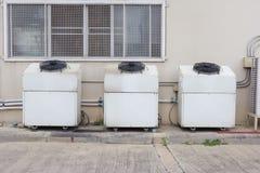 Compressor unit of air conditioner Stock Photos