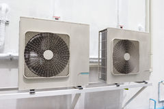 Compressor unit of air conditioner Stock Photo
