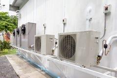 Compressor unit of air conditioner Stock Images