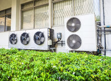 Compressor unit of air conditioner Stock Photography