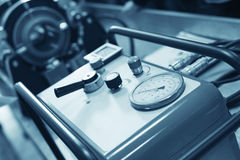 Compressor at workroom royalty free stock photos