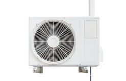 Compressore del condizionamento d'aria Isolato su fondo bianco con la c Fotografie Stock Libere da Diritti