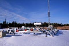 Compressore del gas naturale Immagine Stock