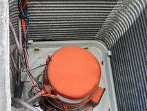 Compressore della pompa termica del condizionatore d'aria Immagine Stock