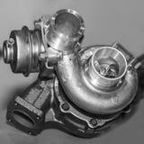Compressore per il motore a combustione interna dell'automobile di turbo fotografie stock