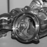 Compressore per il motore a combustione interna dell'automobile di turbo fotografia stock