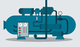 Compressore per stoccaggio del prodotto chimico Illustrazione di vettore Immagine Stock