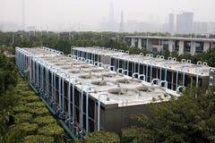 Compressoren van luchtvoorwaarde Royalty-vrije Stock Foto