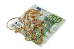 Compri e vendi l'oro Fotografia Stock