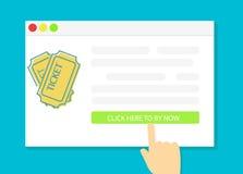 Compri i biglietti online Immagine Stock Libera da Diritti