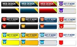 Compri i bottoni di web Immagini Stock Libere da Diritti