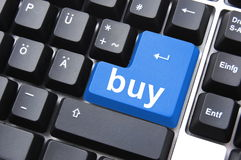 Compri il botton Fotografia Stock