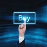 Compri il bottone virtuale Immagine Stock Libera da Diritti