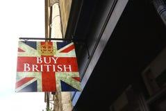 Compri il segno britannico Immagini Stock Libere da Diritti