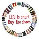 Compri le scarpe Fotografia Stock Libera da Diritti