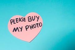 Compri prego la mia foto fotografie stock